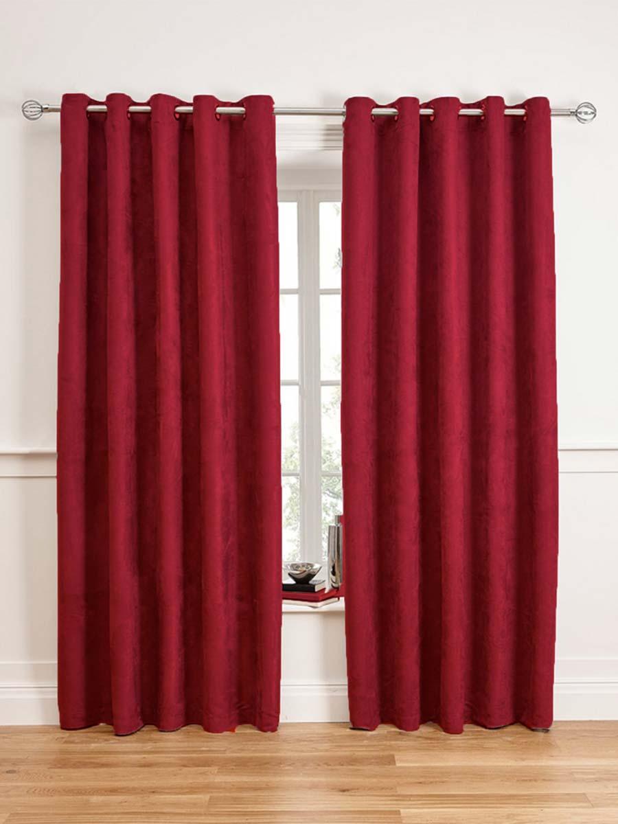 Faux suede curtains