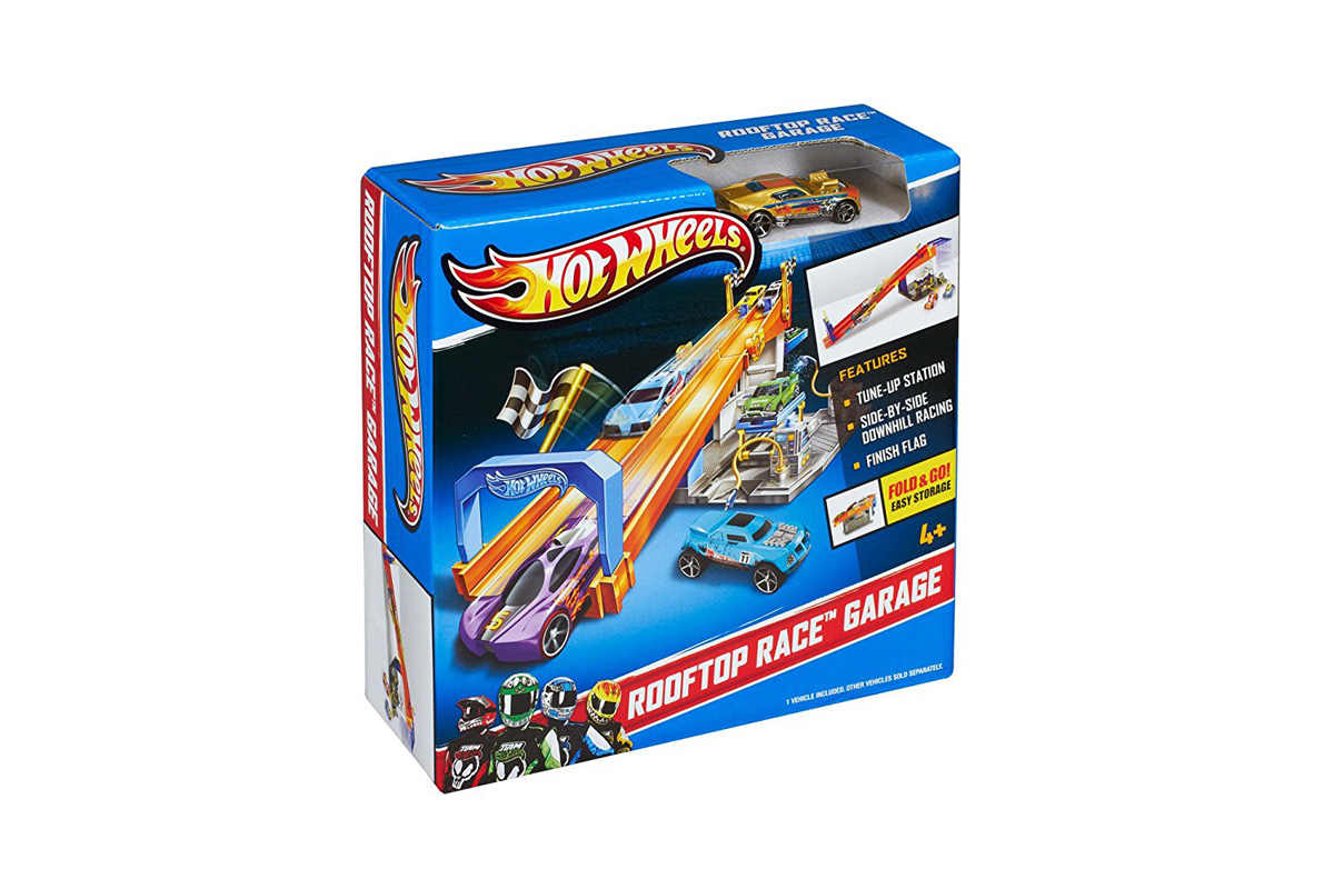 Hot Wheels Rooftop Race Garage Exclusive Playset by Hot Wheels