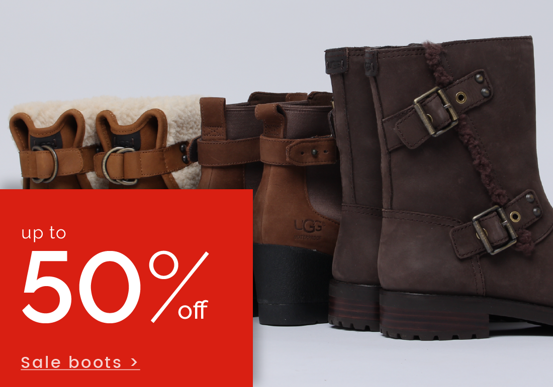 up to 50% off Boots >