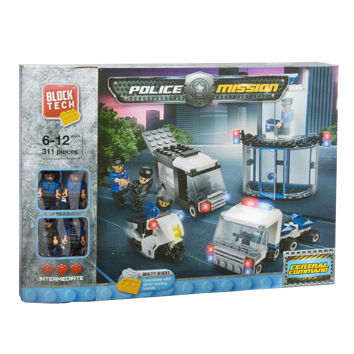 Block Tech Police Mission Central Command Playset