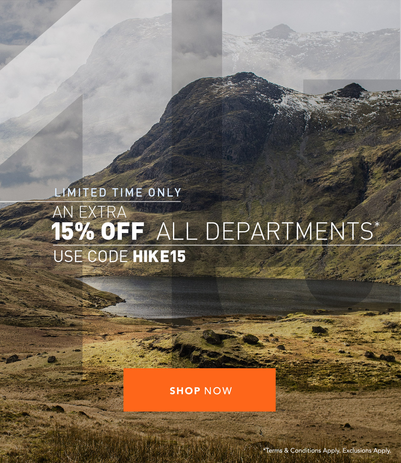 15% OFF All Departments - Use Code HIKE15