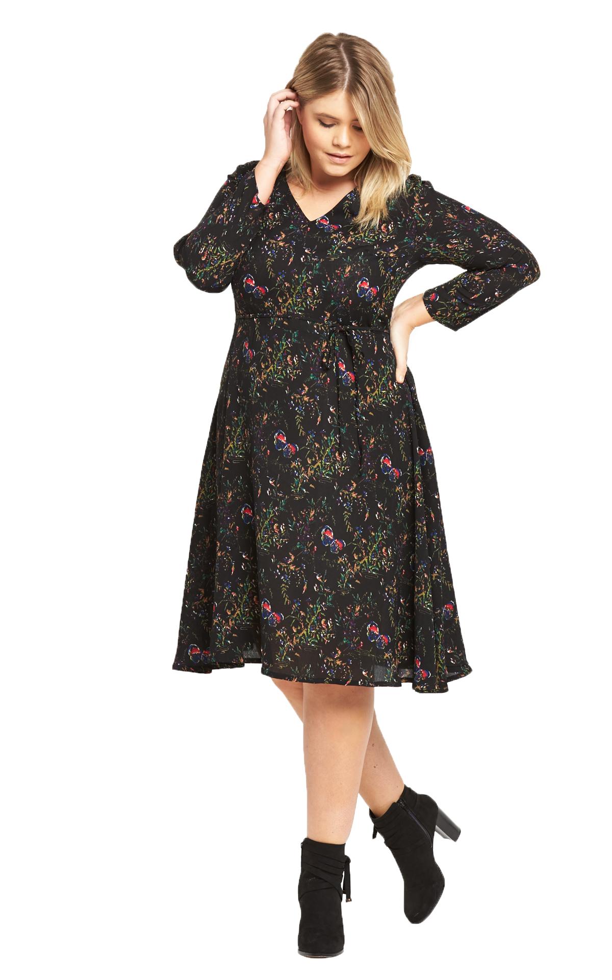 Alice You Short Sleeved Midi Printed Dress