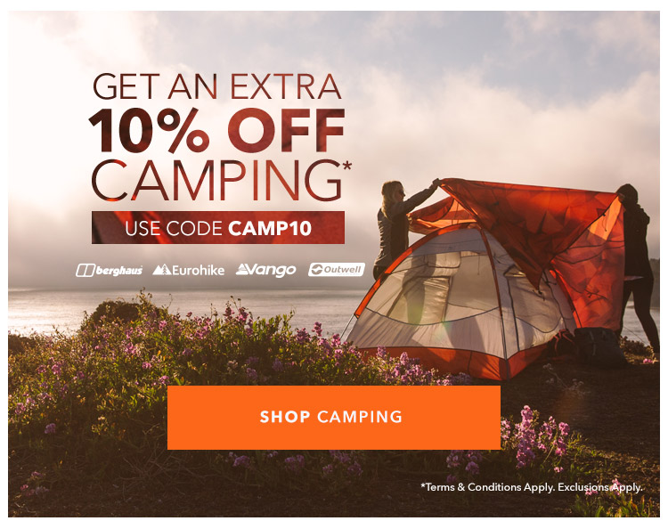 10% Off Camping - With Code CAMP10