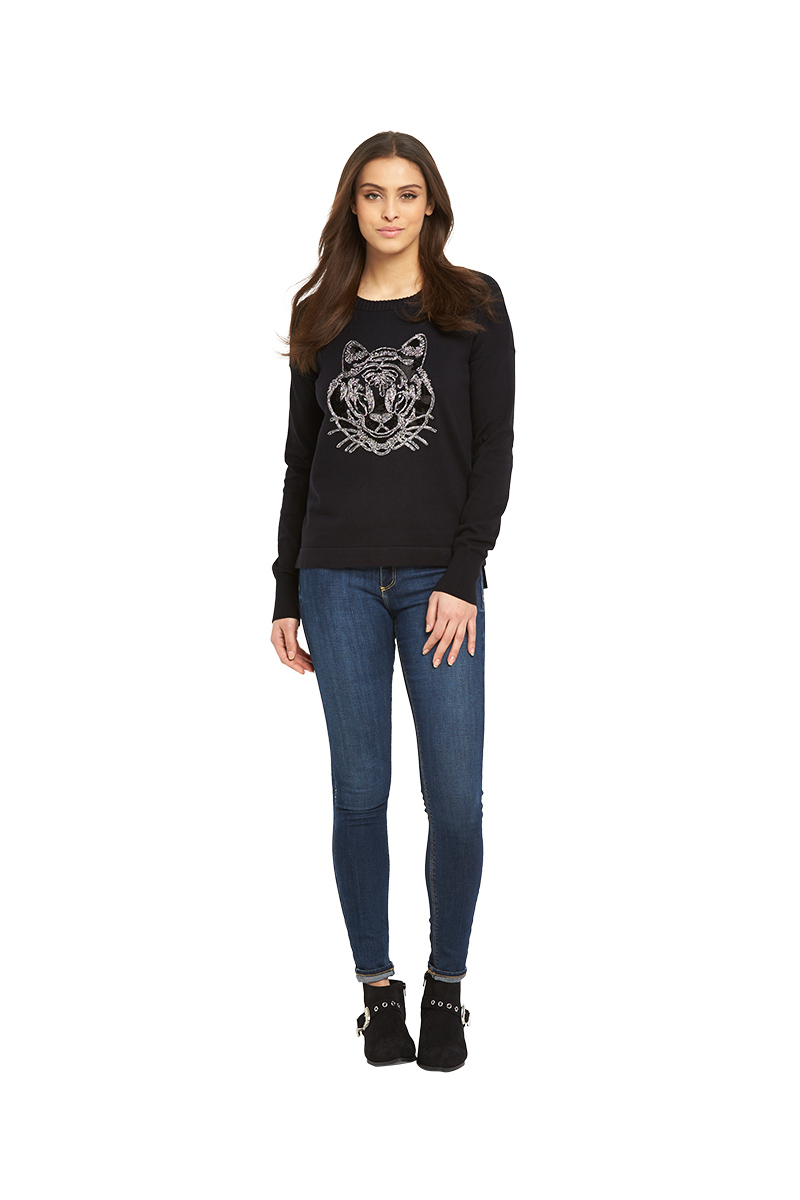 French Connection Animal Knits Tiger Jumper.