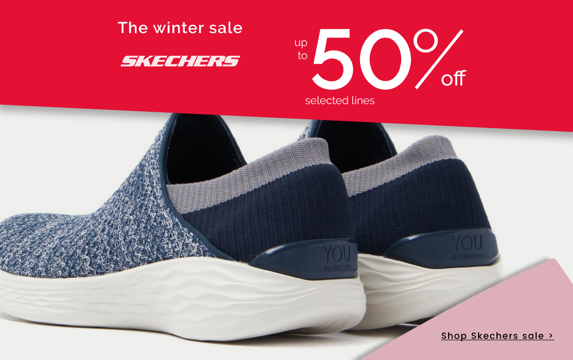 up to 50% off Skechers >
