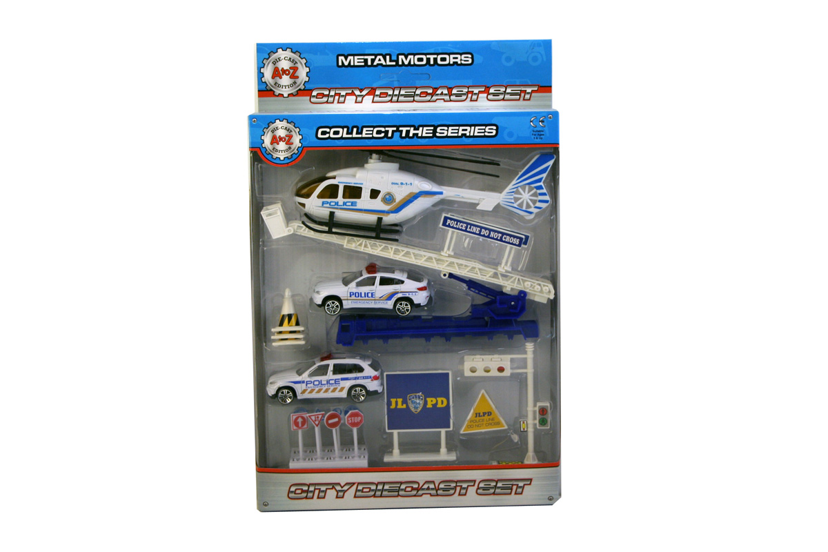 A-Z Diecast Police Play Set