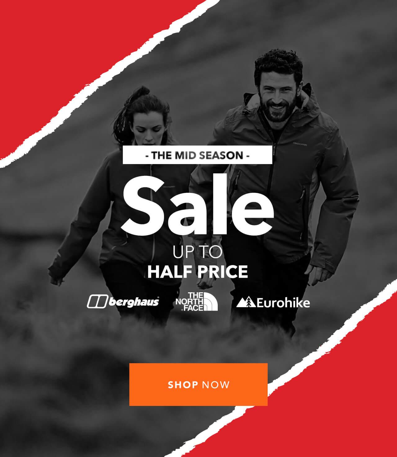 The Mid Season Sale | Up To Half Price