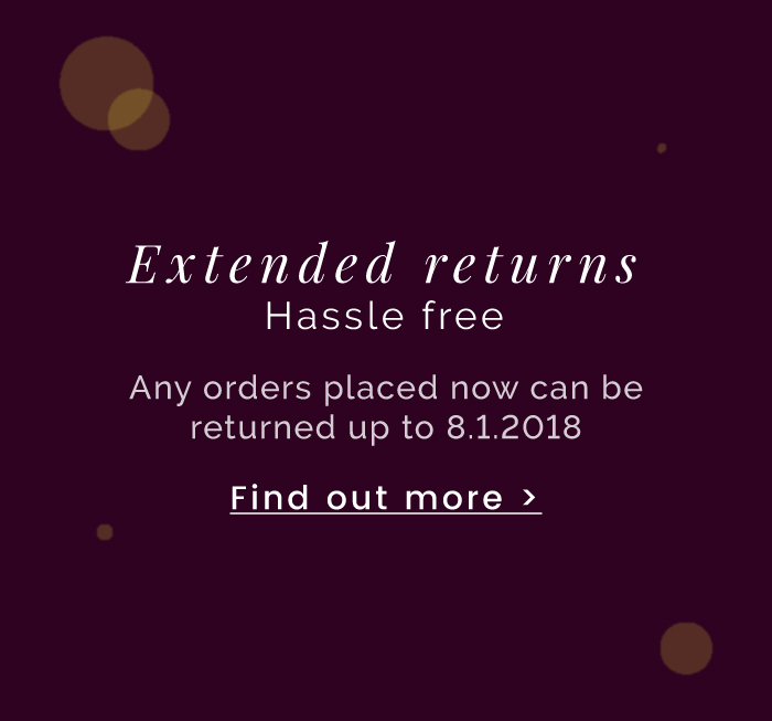 Extended returns - Find out more >