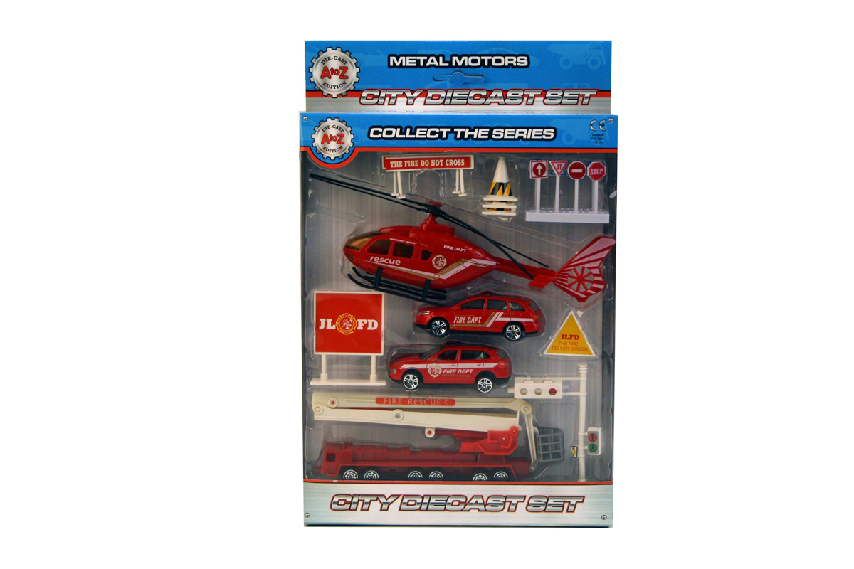 A-Z Diecast Fire Play Set