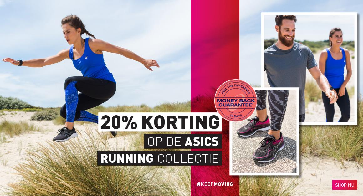 20% extra korting Asics Running