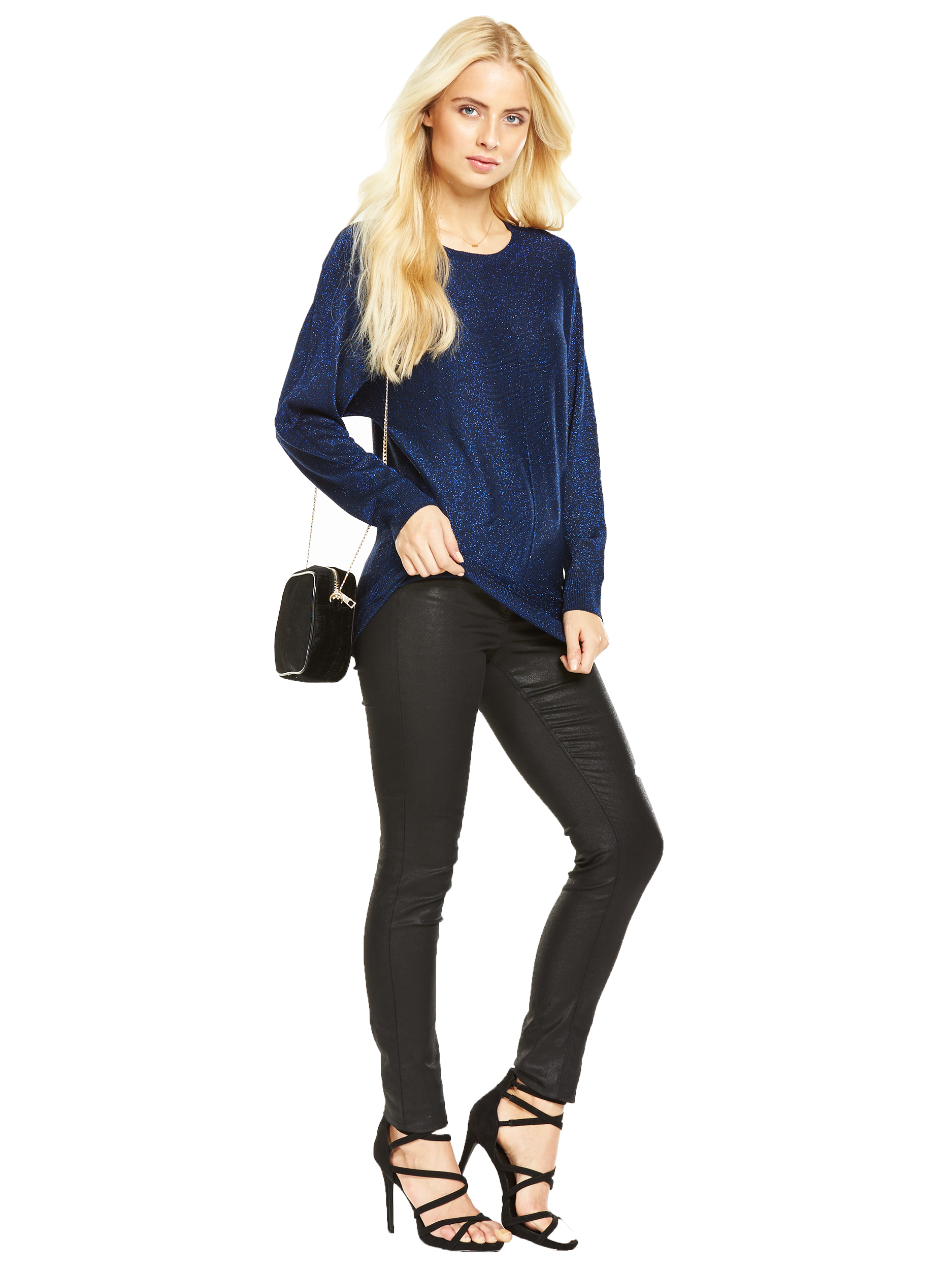 V By Very Metallic Batwing Jumper