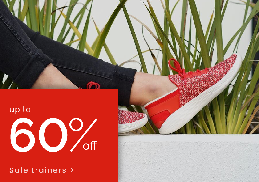 up to 50% off trainers >