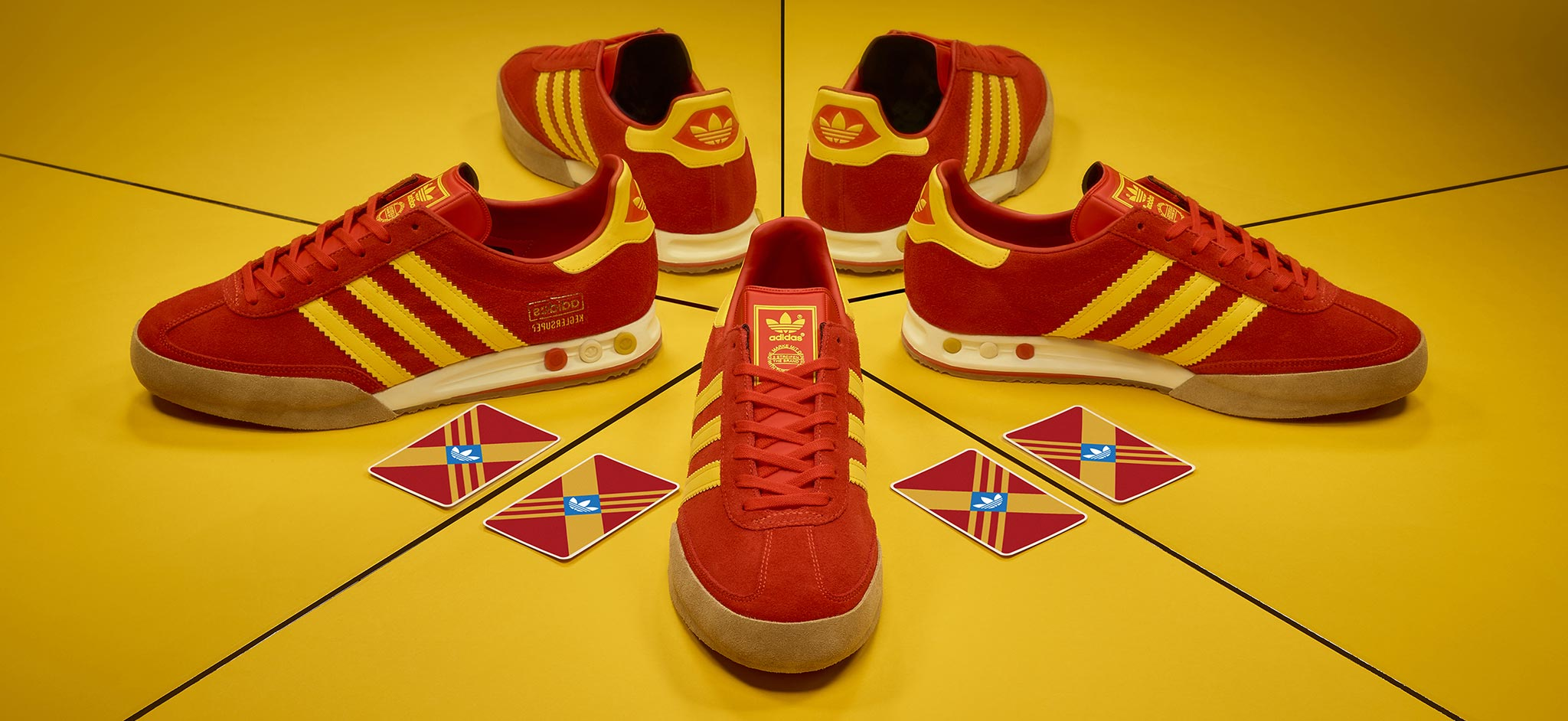 adidas Originals Archive Kegler Super 'Red/Yellow' – size? Exclusive