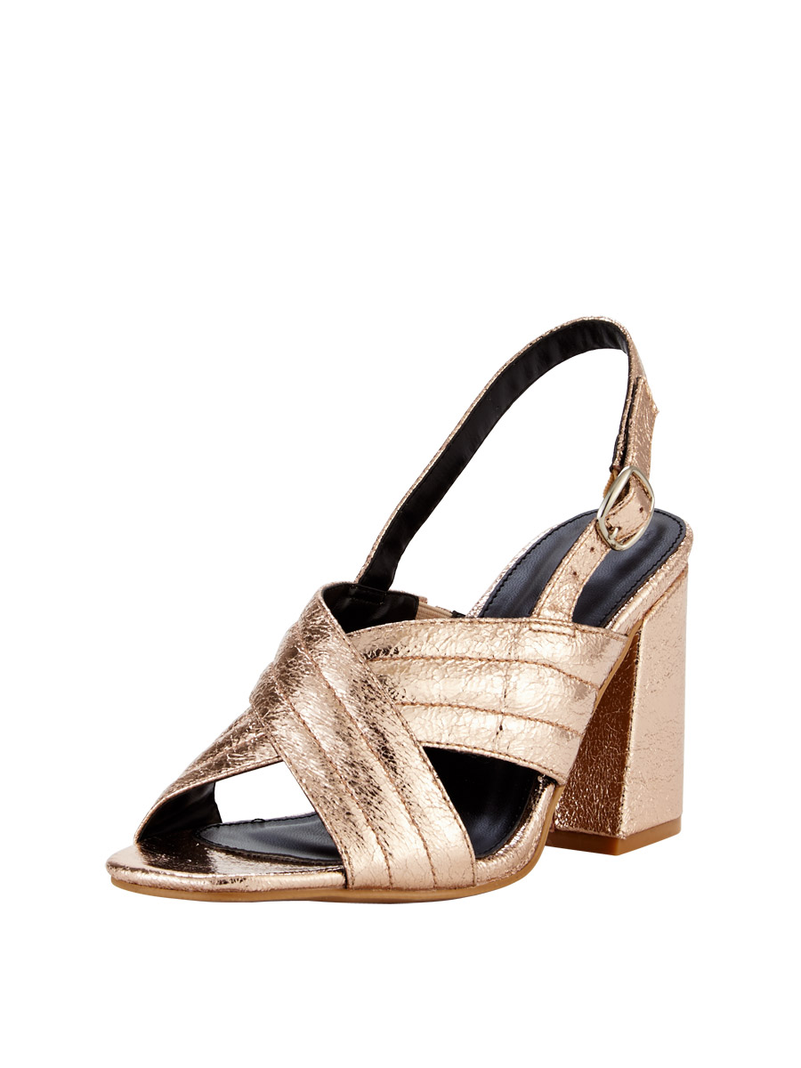 V by Very Anna Extra Wide Fit Heeled Sandals