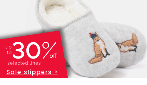 Slippers - up to 30% off >