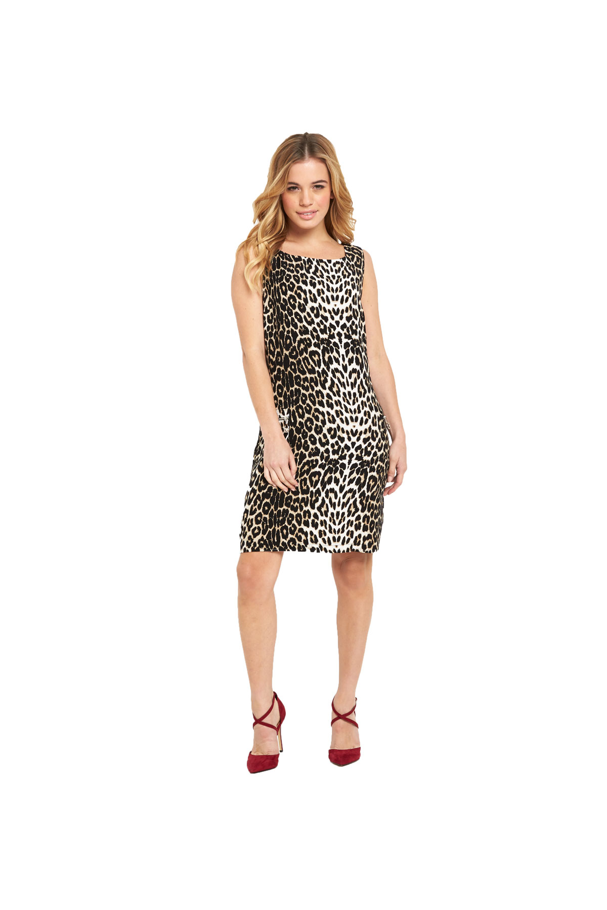Wallis Petite Animal Shift Dress.