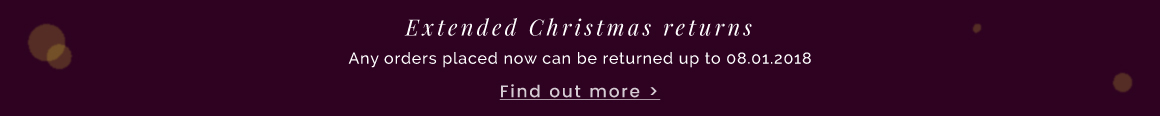 Extended Christmas returns - find out more >