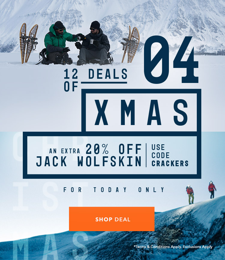 An Extra 20% Off Jack Wolfskin - Use Code CRACKERS