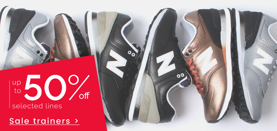 Trainers - up to 50% off >