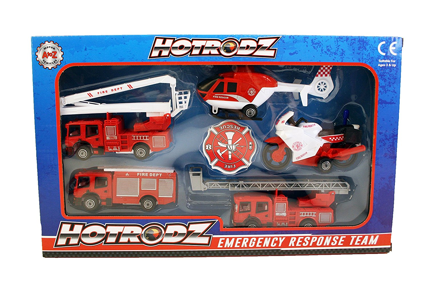 A-Z 5-Piece Rescue Vehicle Play Set