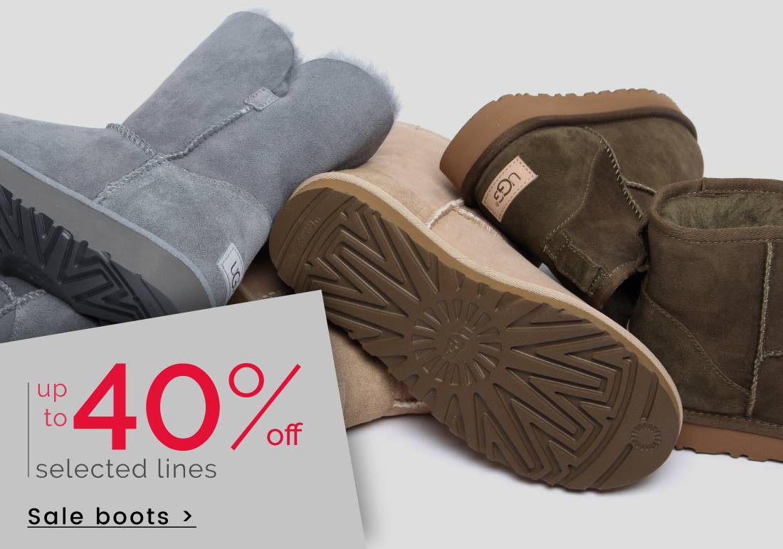 up to 40% off Boots >