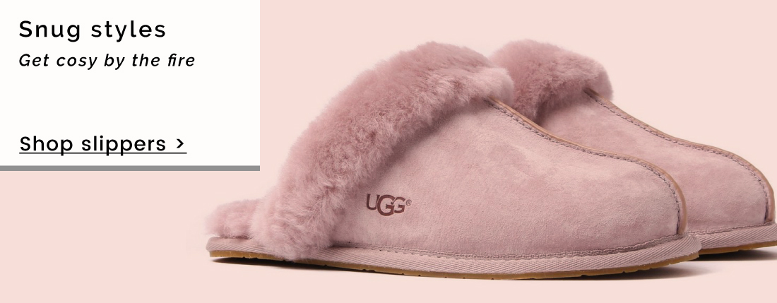 Snug styles | Get cosy by the fire - Shop slippers >