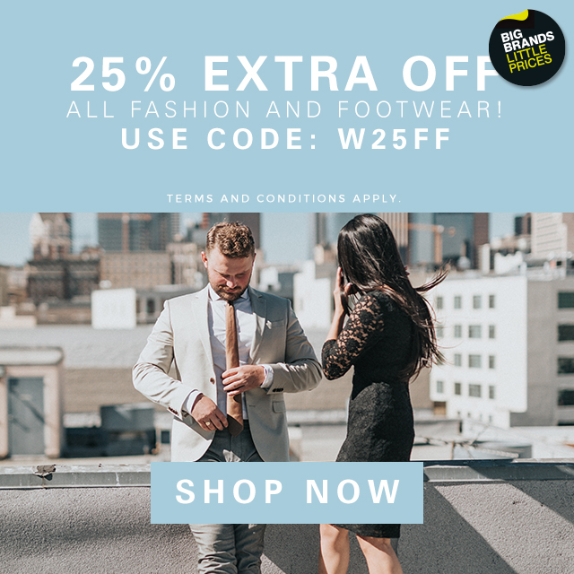 25% Off all Fashion and Footwear