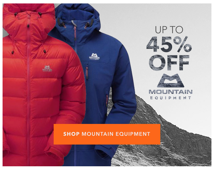 Up to 45% Off Mountain Equipment