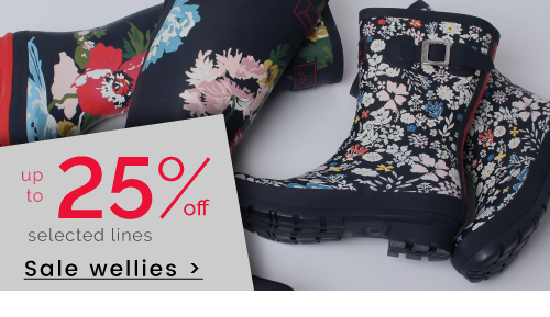 up to 25% off Wellies >