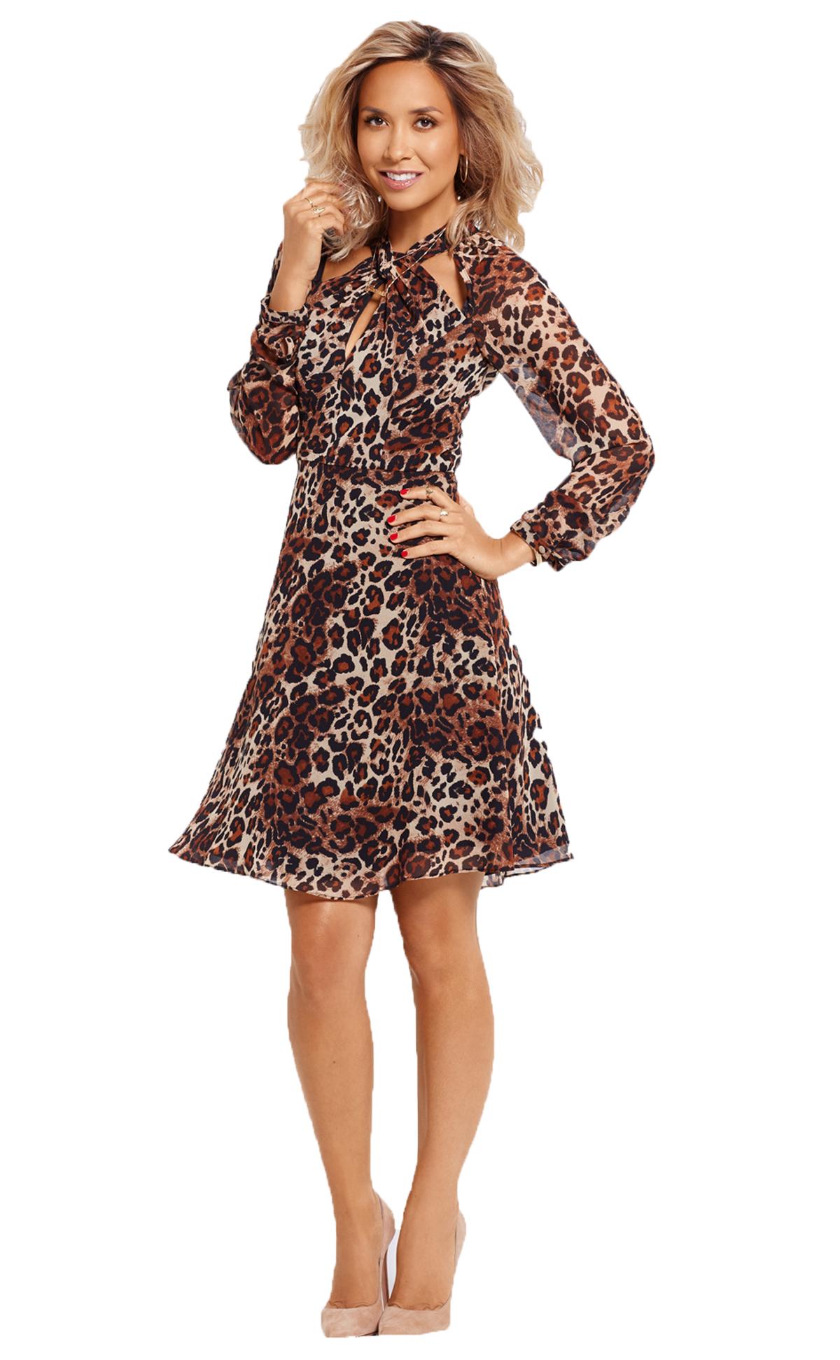 Myleene Klass Twist Front Long Sleeved Dress.