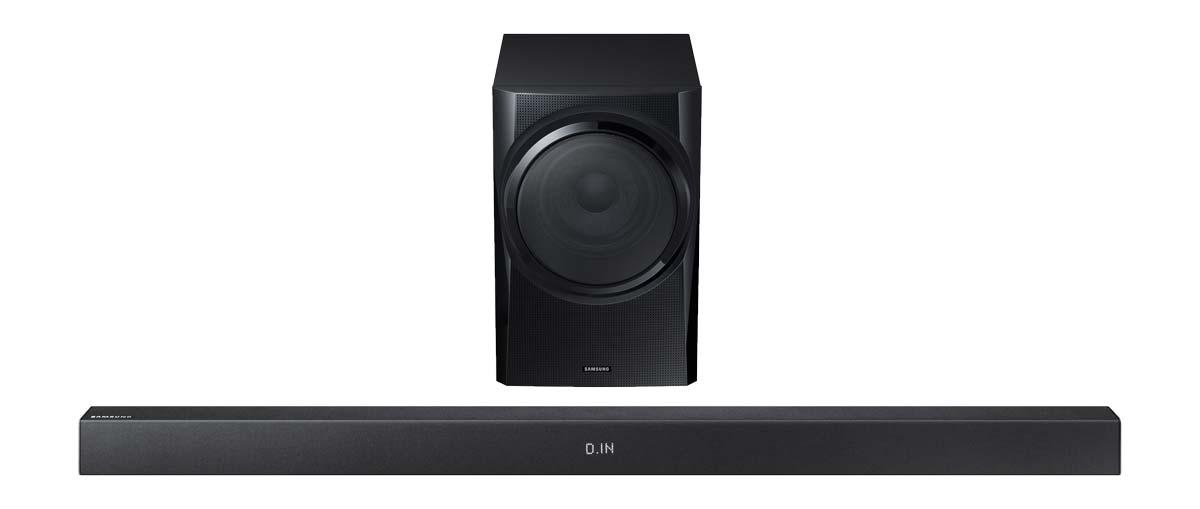 samsung hw k335 xu soundbar 2 1ch wired subwoofer bargain crazy. Black Bedroom Furniture Sets. Home Design Ideas