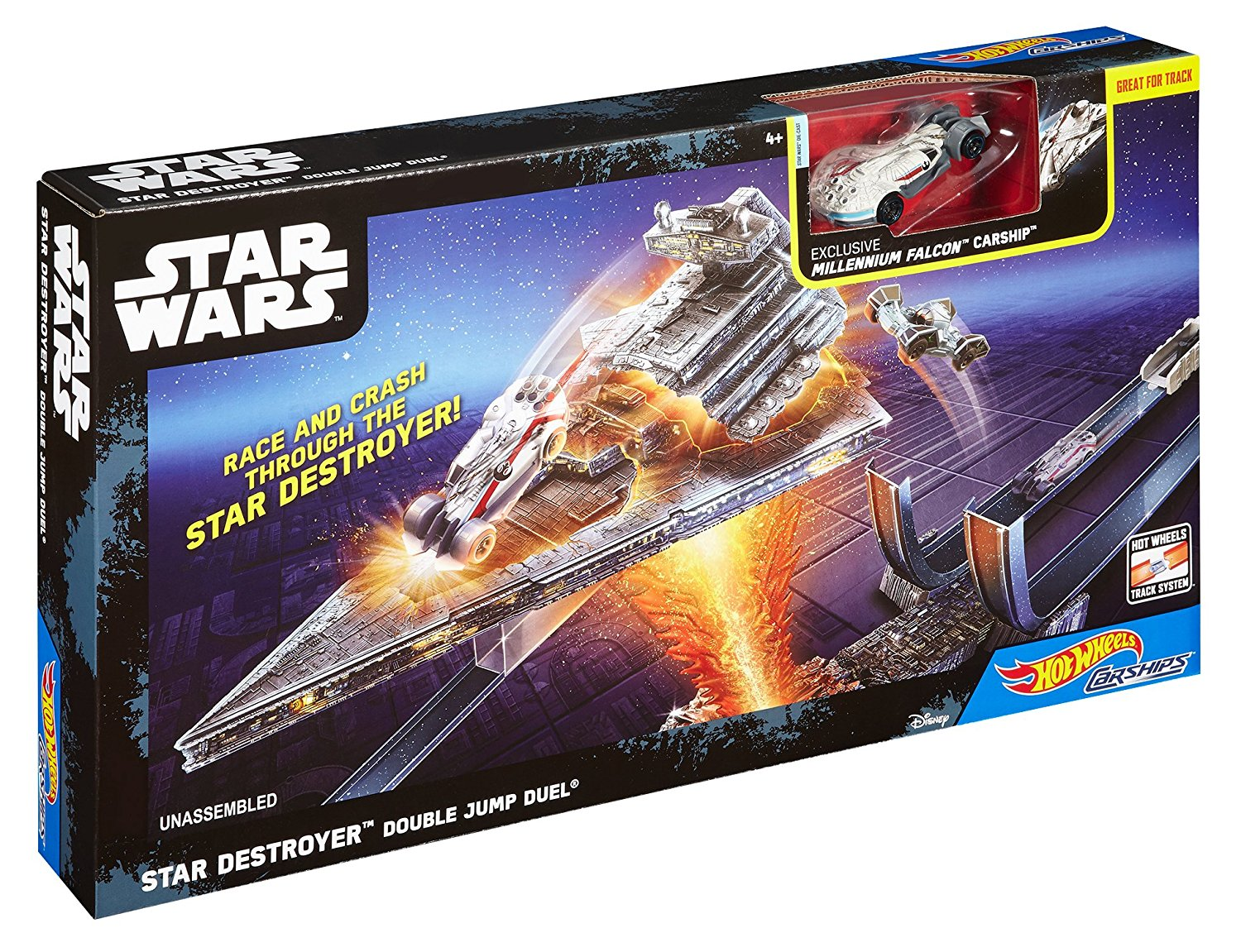 Hot Wheels Star Wars Rogue One Star Destroyer Double Jump Duel Carships Trackset